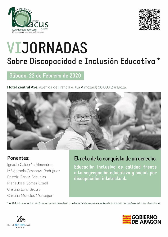 Cartel 6ª Jornadas sobre discapacidad e inclusión educativa copia