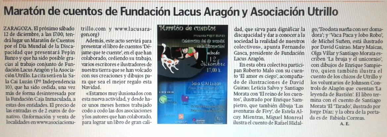 Sin barreras Heraldo de Aragón 4 de diciembre de 2015