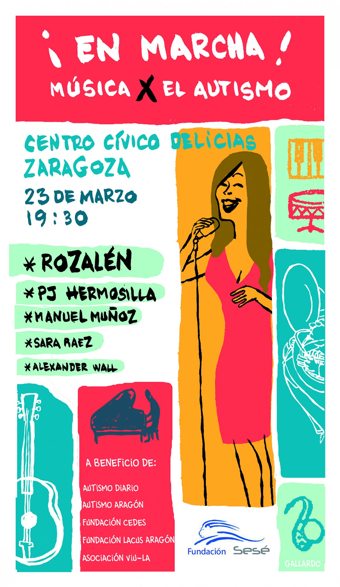 Cartel MUSICA X EL AUTISMO
