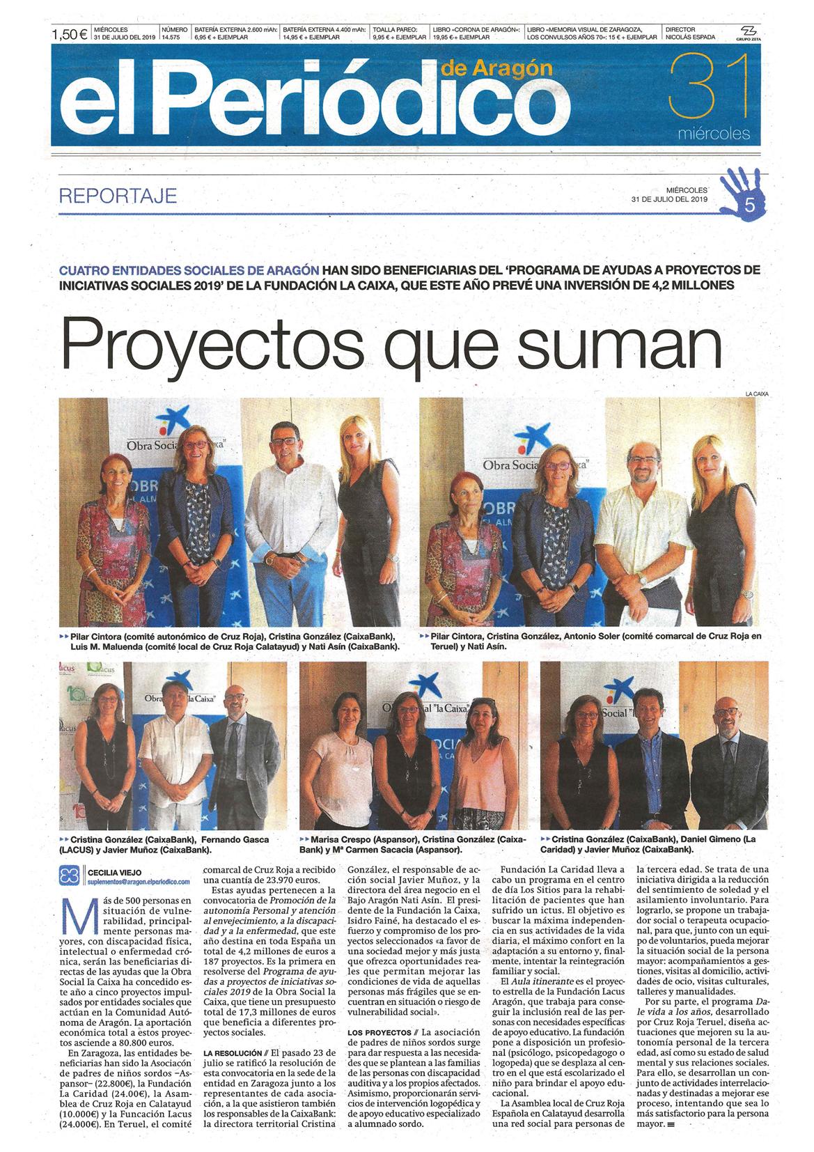 Periódico de Aragón 31-072019